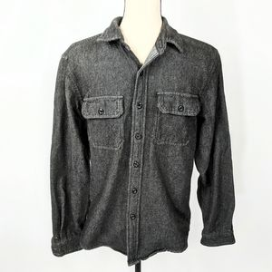 American Eagle Seriously Soft Flannel Shirt Black
